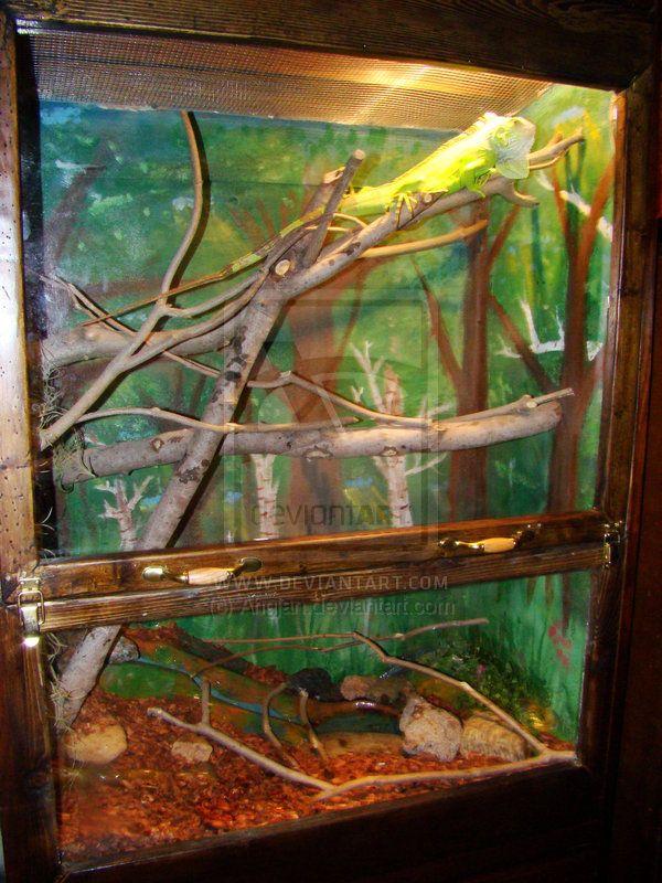 Iguana Cage Finished Closeup by Ahgjan.deviantart.com on @deviantART Here is a & 7 best Iguana cages images on Pinterest | Iguana cage Iguanas and ...
