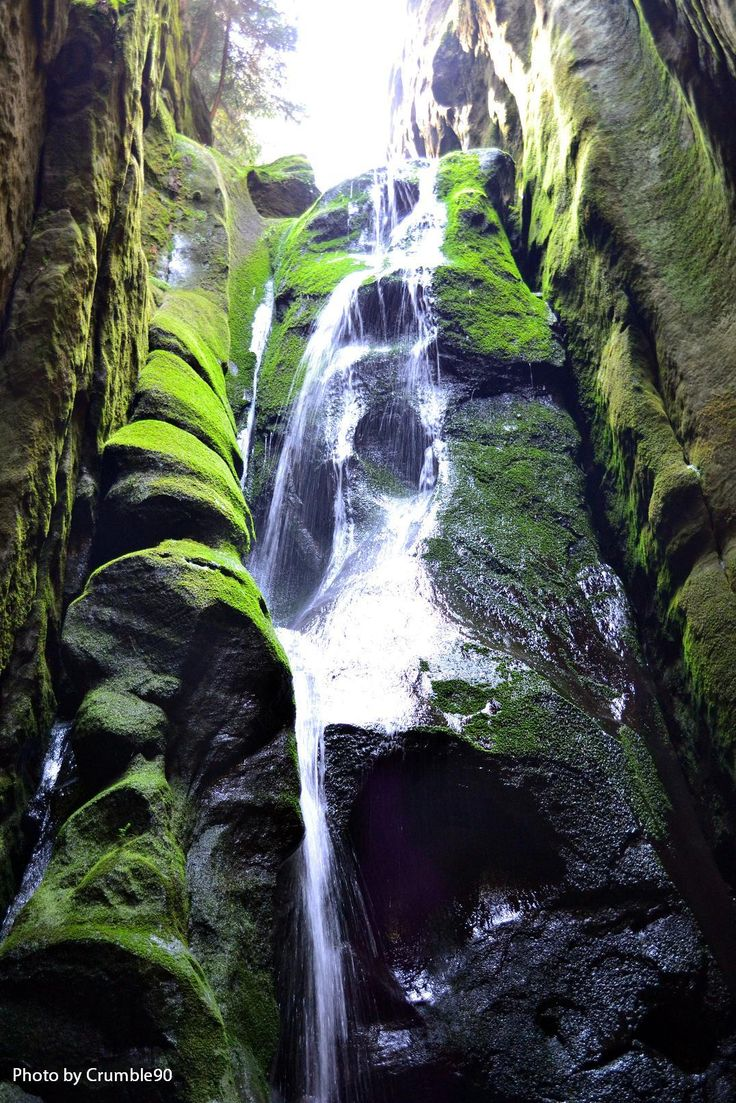 A waterfall in Adršpach-Teplice Rocks, Czech Republic. #waterfall #landscape…