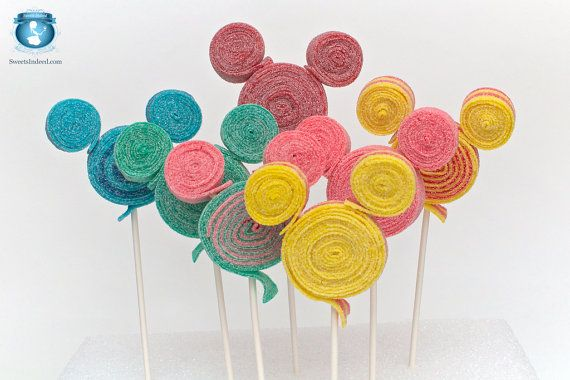 Mickey inspired Sour Lolli's by Sweets Indeed