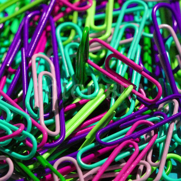 Coloured Paper Clips.
