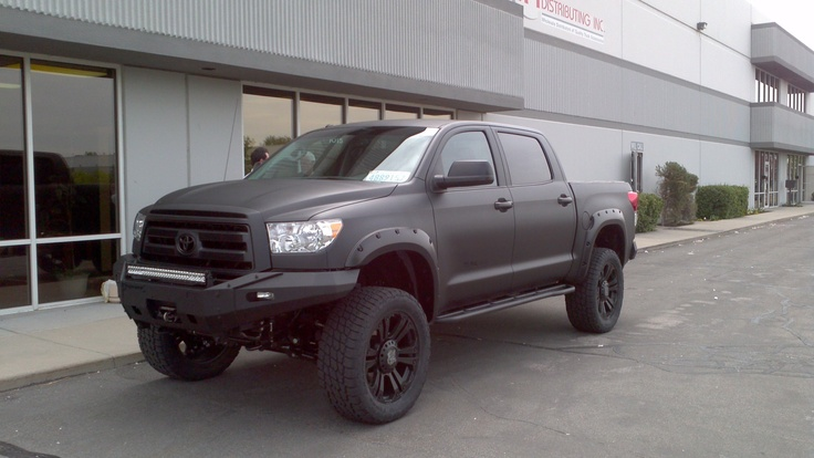 Blacked out Toyota Tundra w/ Pocket Style Fender Flares