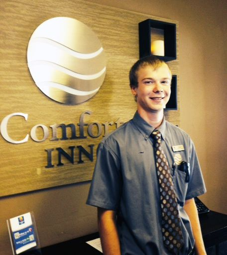 Congratulations to Devin Lynch, Guest Service Representative at our Comfort Inn Jamestown hotel, for being a 2014-15 Choice Hotels Scholarship Winner! Devin has maintained a 4.0 GPA and will be attending the University of Jamestown. We are extremely proud of Devin for this accomplishment and we wish him the best!