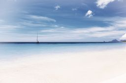 Sea and Sky, Caribbean Island Travel Photo Print