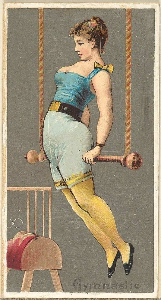 Issued by Goodwin & Company. Gymnast, from the Occupations for Women series (N166) for Old Judge and Dogs Head Cigarettes, 1887. The Metropolitan Museum of Art, New York. The Jefferson R. Burdick Collection, Gift of Jefferson R. Burdick (Burdick 214, N166.27)