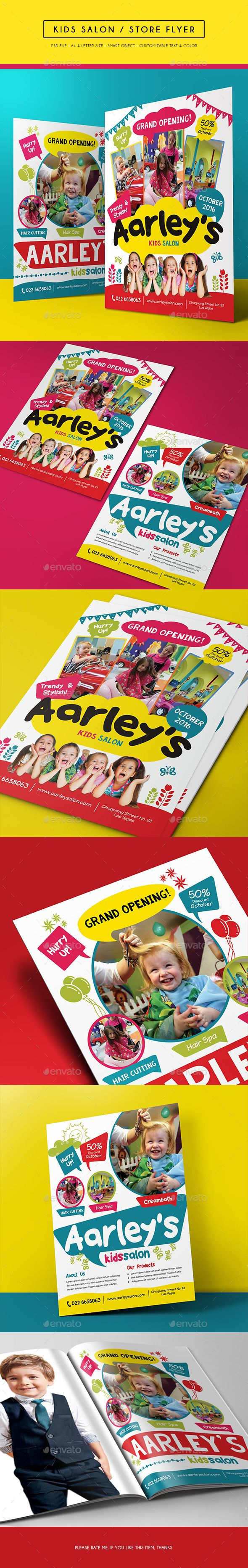 Kids Salon / Store Flyer