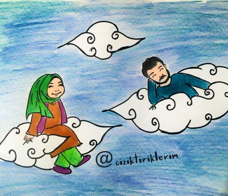 hayırlı eş huzurun başlangıcıdır insanı buluttan buluta gezdirir # #illustration  #doodle #illüstrasyon #çizim  #resim #doodleart #myart #drawing #sketching #art #instaart #instadraw #watercolor #painting  #instaartist  #artoftheday #animehijab #muslimcouples #hijab  #karikatür #ciziktiriklerim