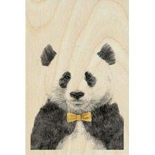 Timbergram Houten Poster 29,7x42 cm - Panda