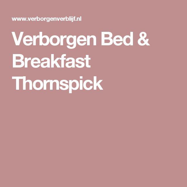 Verborgen Bed & Breakfast Thornspick