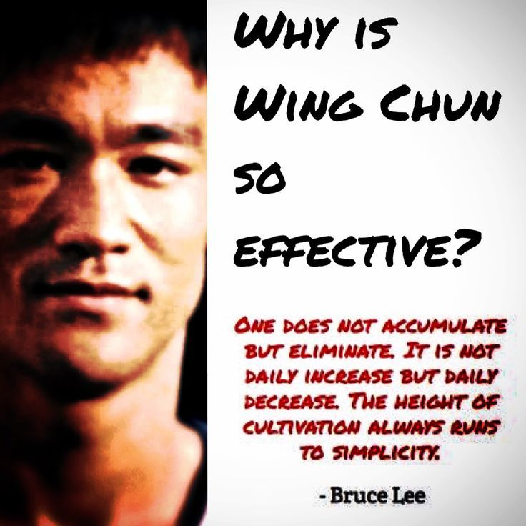 Why is Wing Chun so #effective? Because of its #simplicity - #WingChun ...