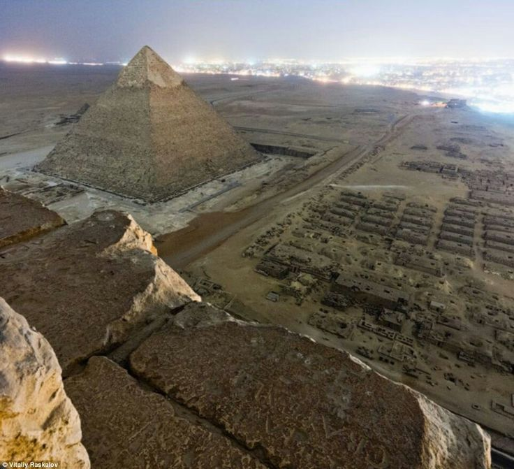 See the Cairo skyline from the great pyramid