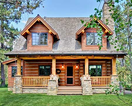 Yes to floor plan, no to log cabin- white farmhouse instead, please.