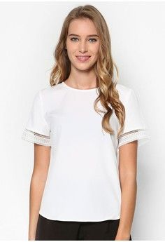 Collection Lace Tee from ZALORA in white_1
