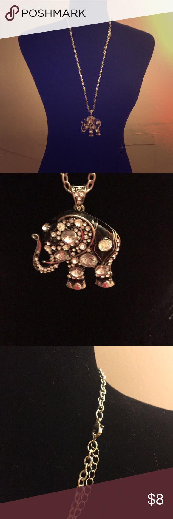 Elephant necklace Silver necklace- all jewels in tact  Beautiful necklace Jewelry Necklaces