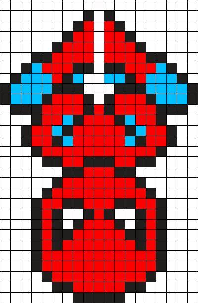 Spiderman Perler Bead Pattern / Bead Sprite
