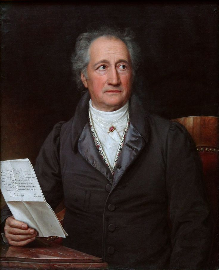 Johann Wolfgang von Goethe (August 28, 1749 - March 22, 1832) began to study law at Leipzig University at the age of 16, and also studied drawing. He was a council member and member of the war commission, director of roads and services, and managed the financial affairs of the court. Goethe was also general supervisor for arts and sciences, and director of the court theatres. The first part of his masterwork, Faust, appeared in 1808, and the second part in 1832.