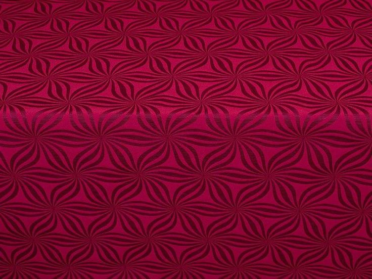 Liberty Furnishings Burgundy Geometric Star Zoysia Curtain Material