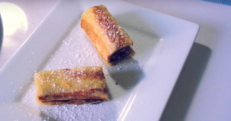 Revisiter une recette traditionnelle avec du Nutella, voilà une bonne idée ! Cette recette de pain perdu roulé au Nutella est proposée par Tagadanail cooking.