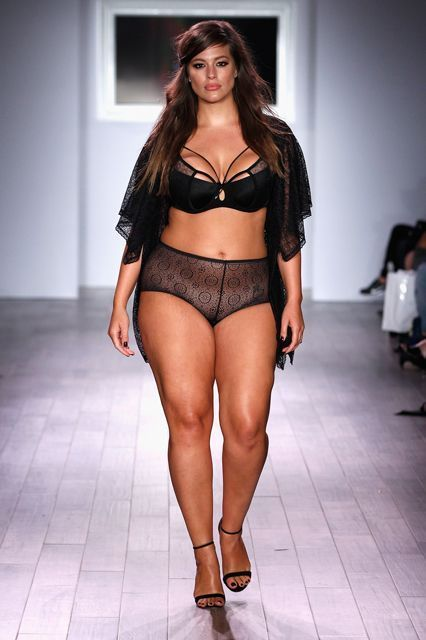 Ashley Graham, plus-size model, just walked in her own lingerie show and looked AMAZING