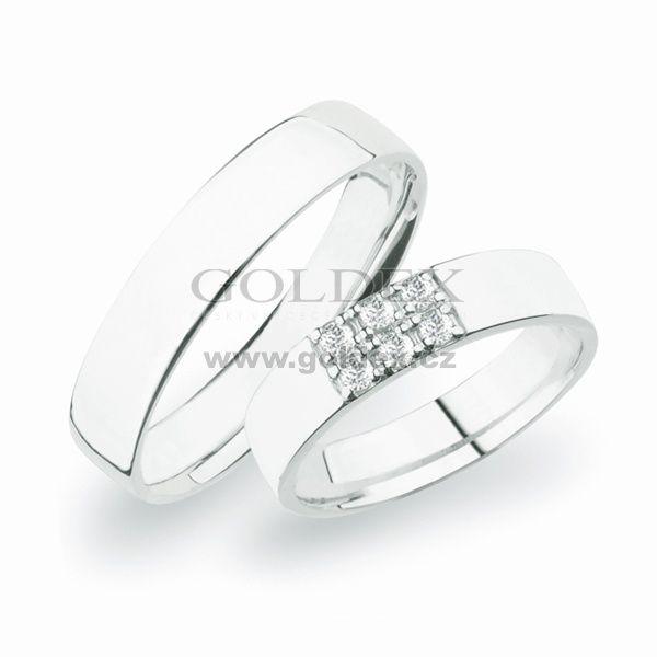 SP-271Ag Stříbrné snubní prsteny