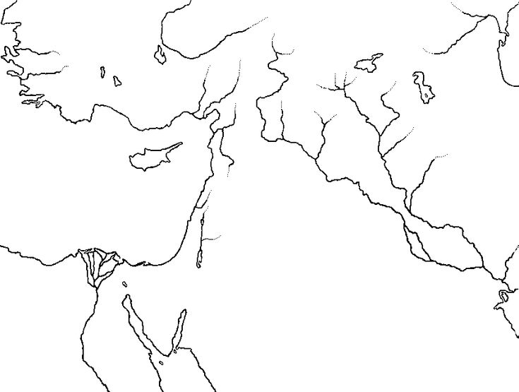 The Ancient Near East, showing the travels of Abraham (2nd