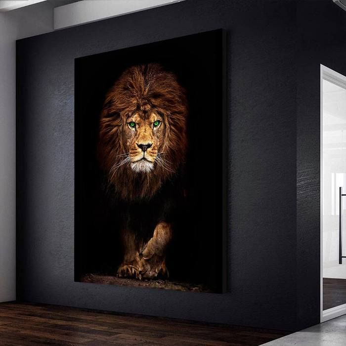 The Beast Hallway Art Man Cave Canvas Lion Painting