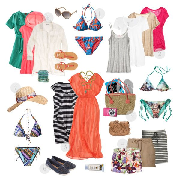"""One Week in Paradise, Tropical Climate"" by prettyannamoon on Polyvore"