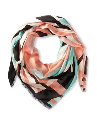 56% OFF Kenneth Jay Lane Women's Deco Scarf, Coral Multi