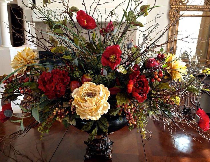 77 best wild petals antiques home accessories custom silk floral peonies poppies and berries silk floral arrangementsfloral centerpiecestable centerpiecestuscan decoratingsilk mightylinksfo Image collections