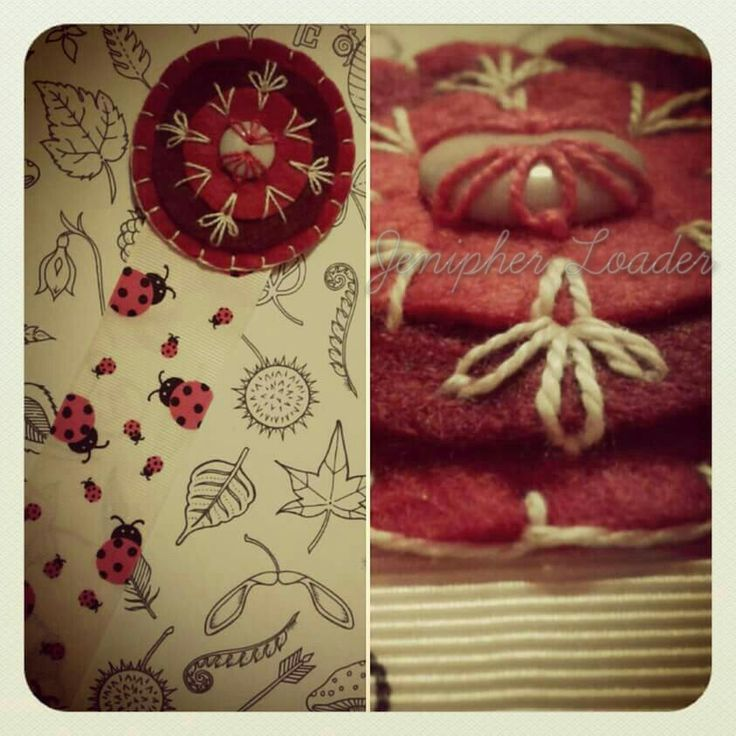 Bookmark Mandala fieltro felt feltro felting craft diy