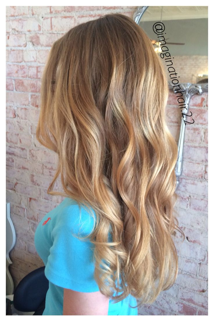 Golden Balayage Blonde Highlights Blondehair Balayage