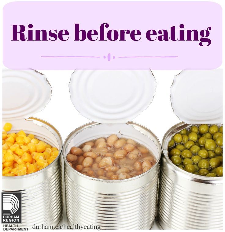 When choosing canned items, read food labels and compare products for sodium content. Look for products that say sodium free, low sodium, no added salt and reduced sodium. Don't forget to rinse and drain canned vegetables, lentils, olives and beans before eating them.
