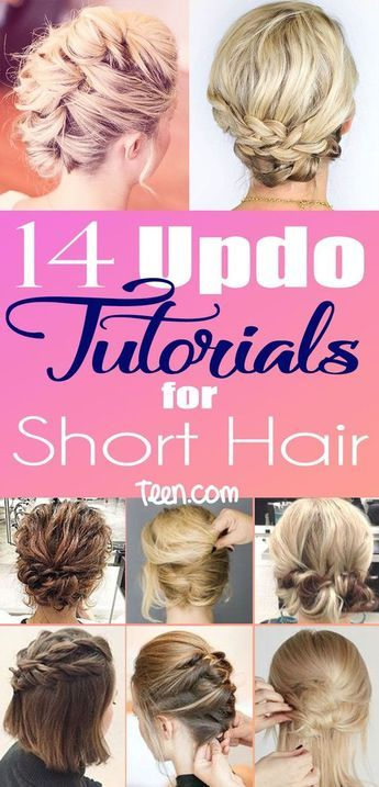 Short Hair Updos How To Style Bobs Lobs Tutorials Make Up Pinterest Styles And