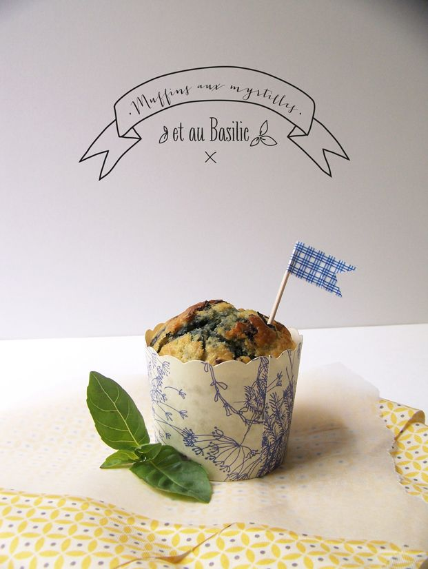 Muffins myrtilles & basilic - Besly -
