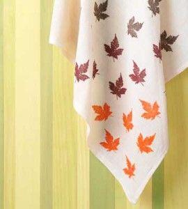 DIY Stamped Fabric