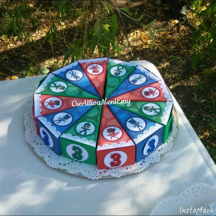 Pjmasks scatoline torta