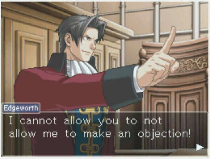 80 best Objection! images on Pinterest Phoenix wright, Professor - i have no objection