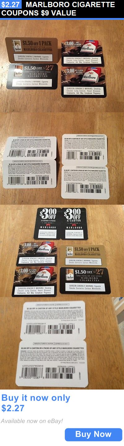Coupons: Marlboro Cigarette Coupons $9 Value BUY IT NOW ONLY: $2.27
