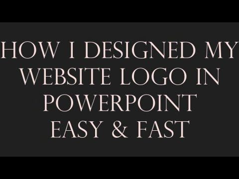How to Design Website Logo In PowerPoint Fast & Easy