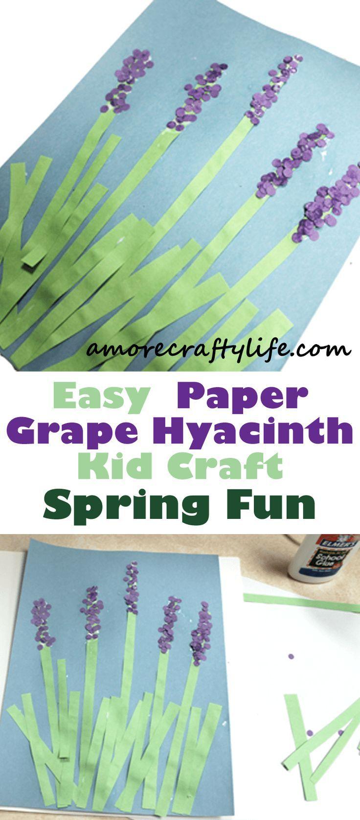 paper flower kid craft – spring flower kid crafts …