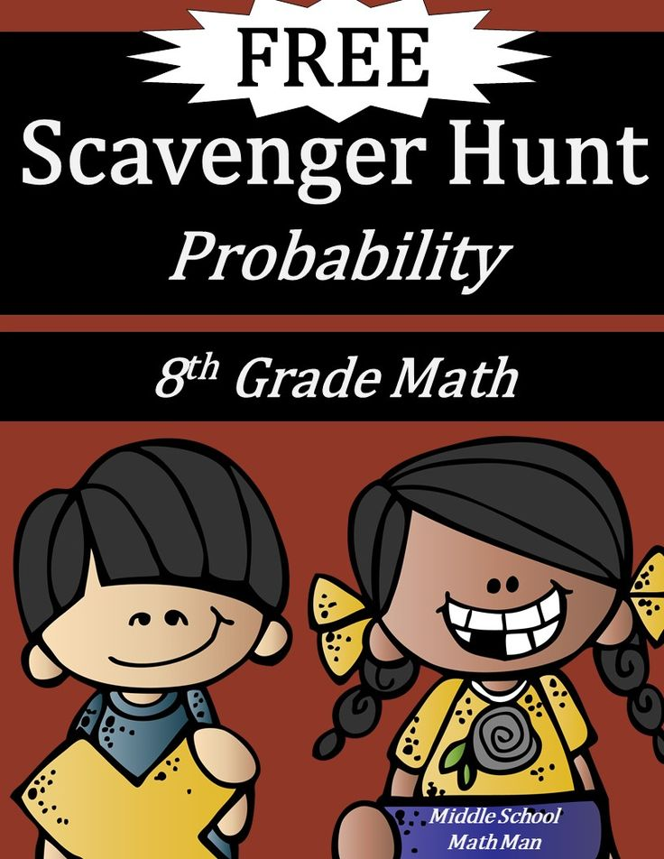 This free 8th grade math probability scavenger hunt is a fun way for middle school students to practice calculating permutations, combinations, probability of independent and dependent events, and more! Includes 12 problems to post around the room, a student answer sheet, and a teacher answer key.