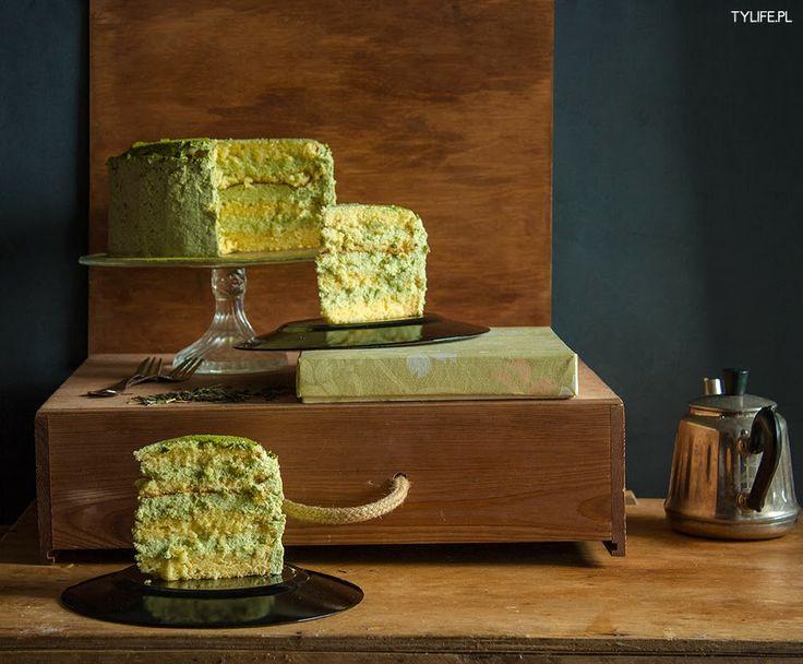 Taste Your Life - blog kulinarny : Tort z zieloną herbatą. Matcha mousse cake