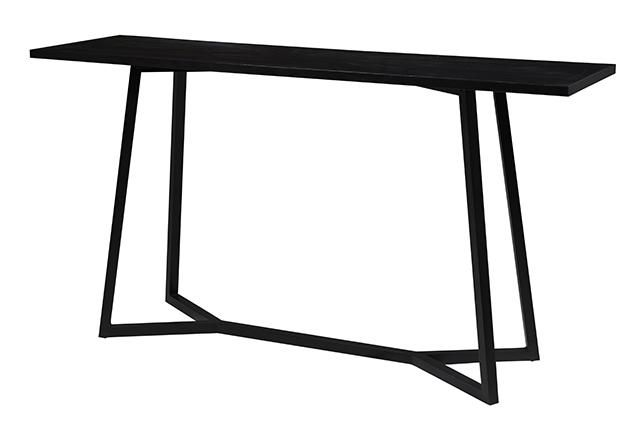 Geo console - black as a contrast to white & oak Possible for upstairs 1500 x 400 x 1800