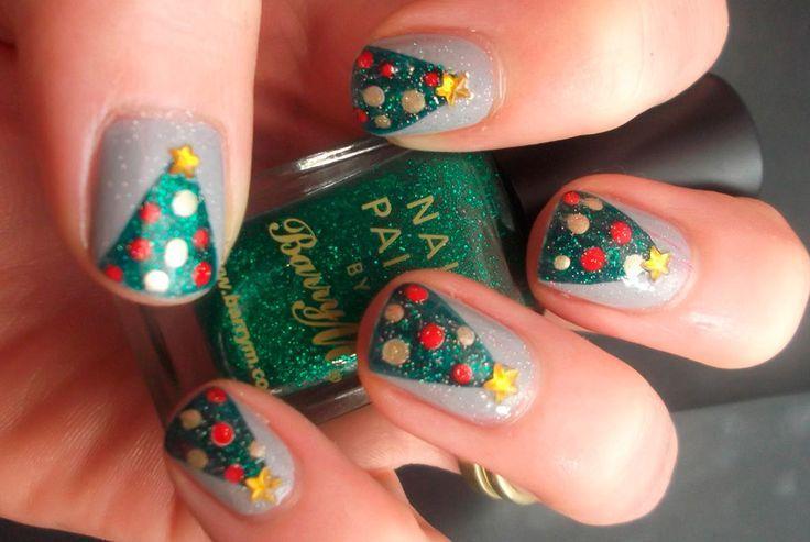 Mejores 85 imágenes de Christmas Nail Art en Pinterest | Uñas de ...