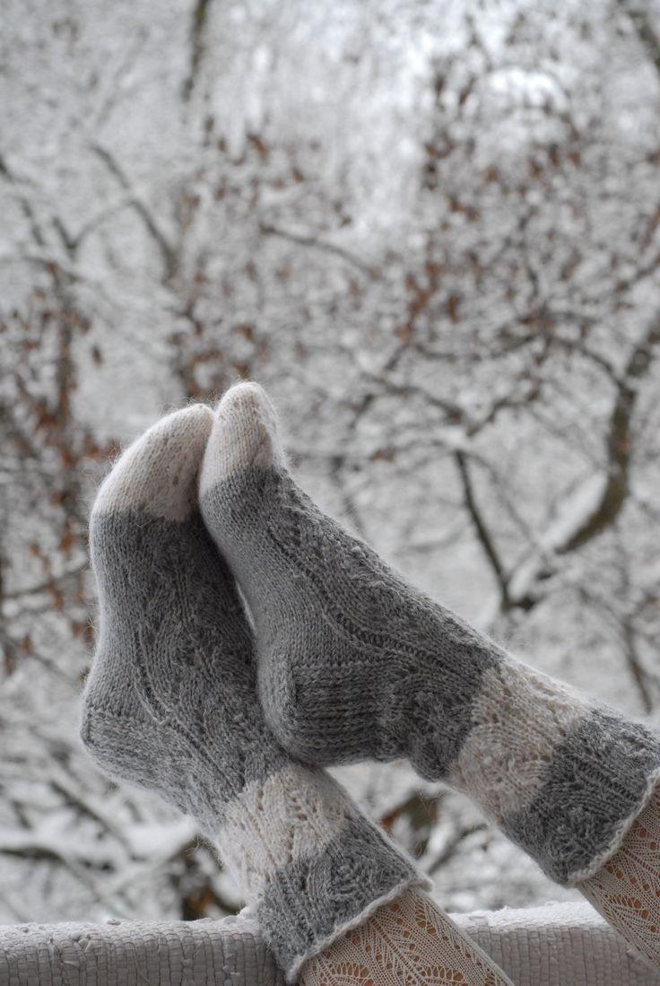 Stylish Hand knitted socks
