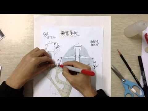 服裝打版教學-基本袖型變化-燈籠袖