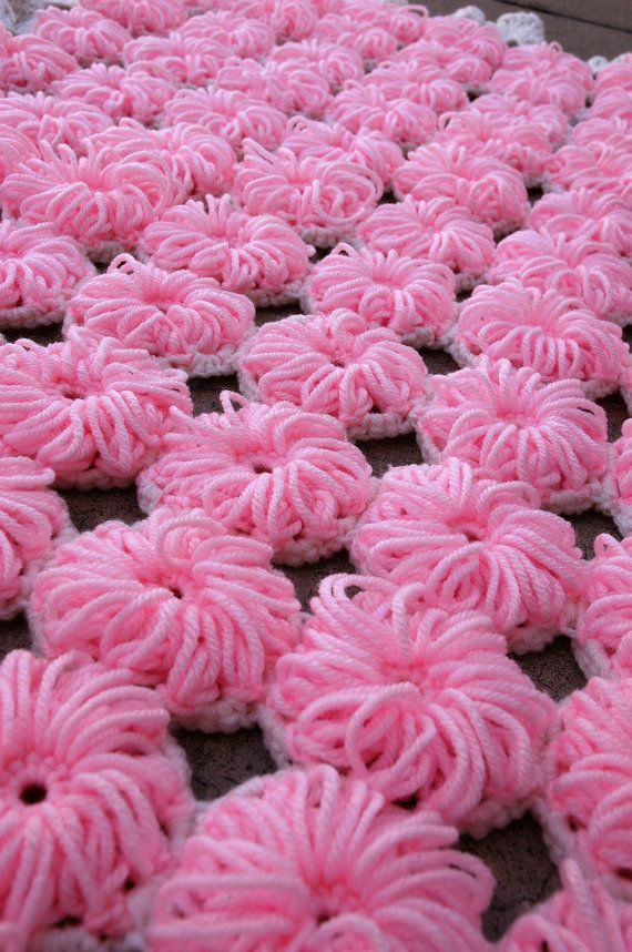 Vintage Crochet Baby Blanket Pattern PDF by juliebell on Etsy