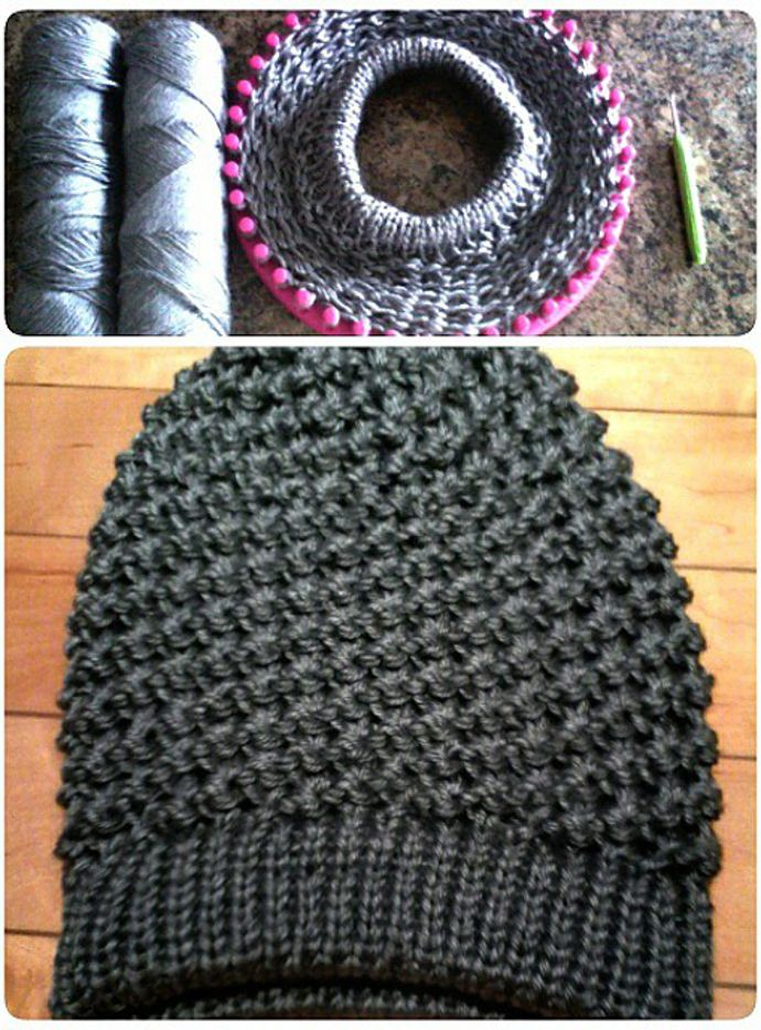 How To Loom Knit Slouchy Beanie Basketweave : Gorro slouchy beanie con telar de luisa m subscribers