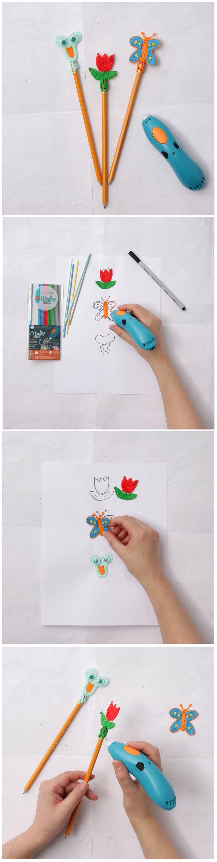 3Doodler Pencil Toppers // Dessiner en 3D avec le stylo 3Doodler