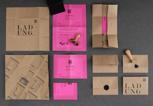 LSDK #design #print #brand: Brown Paper, Idea, Bright Color, Kraft Paper, Prints Design, Graphics Design, Wax Seals, Hot Pink, Invitations Design