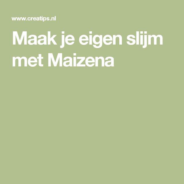 Maak je eigen slijm met Maizena